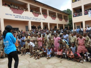 UNICEF Guinea and partners conduct Ebola education sessions at schools throuhout the capital, Conakry. Creative Commons License, UNICEF Guniea