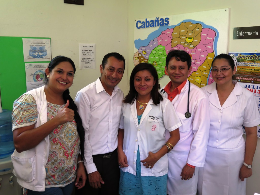 Carlos Rafael Genovez and his team at the Sensuntepeque AIDS Clinic - GCYL El Salvador 2015 - Gillian Hoyer Photo