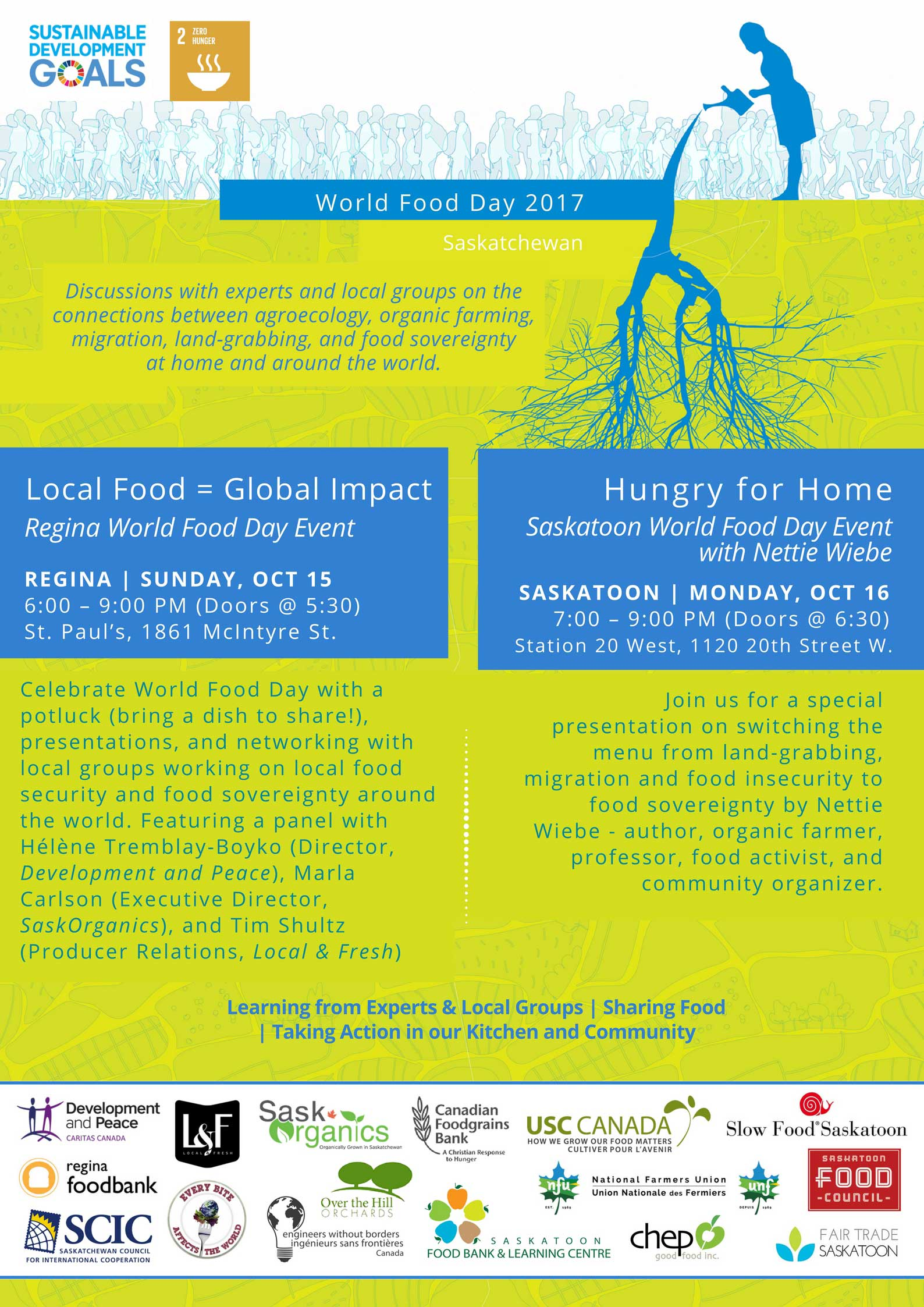 World food day events oct 15 16 2017 scic scic for World of war craft com